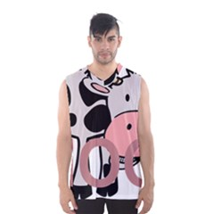 Moo Cow Cartoon  Men s Basketball Tank Top