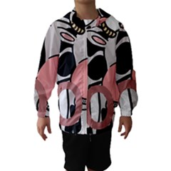 Moo Cow Cartoon  Hooded Wind Breaker (Kids)