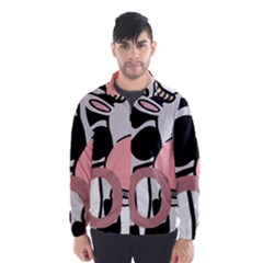 Moo Cow Cartoon  Wind Breaker (Men)