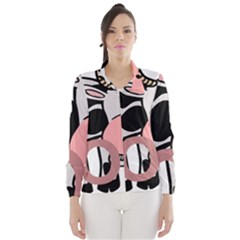 Moo Cow Cartoon  Wind Breaker (Women)