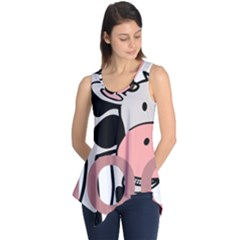 Moo Cow Cartoon  Sleeveless Tunic