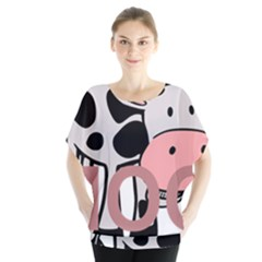 Moo Cow Cartoon  Blouse