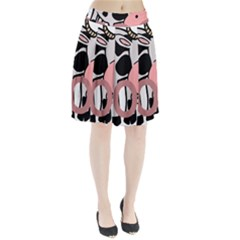 Moo Cow Cartoon  Pleated Skirt