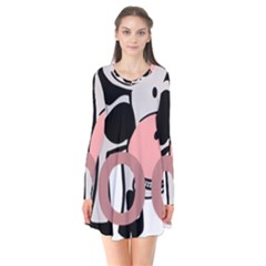 Moo Cow Cartoon  Flare Dress