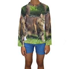 Norwegian Forest Cat Full  Kids  Long Sleeve Swimwear