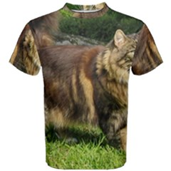 Norwegian Forest Cat Full  Men s Cotton Tee