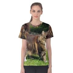 Norwegian Forest Cat Full  Women s Cotton Tee