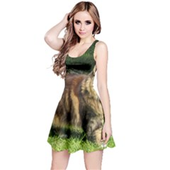 Norwegian Forest Cat Full  Reversible Sleeveless Dress