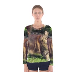 Norwegian Forest Cat Full  Women s Long Sleeve Tee