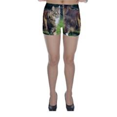 Norwegian Forest Cat Full  Skinny Shorts