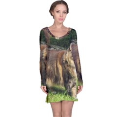 Norwegian Forest Cat Full  Long Sleeve Nightdress
