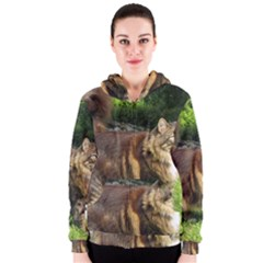 Norwegian Forest Cat Full  Women s Zipper Hoodie