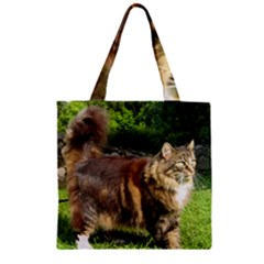 Norwegian Forest Cat Full  Zipper Grocery Tote Bag