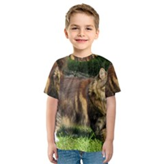 Norwegian Forest Cat Full  Kids  Sport Mesh Tee