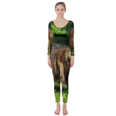 Norwegian Forest Cat Full  Long Sleeve Catsuit