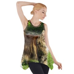 Norwegian Forest Cat Full  Side Drop Tank Tunic