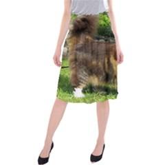 Norwegian Forest Cat Full  Midi Beach Skirt