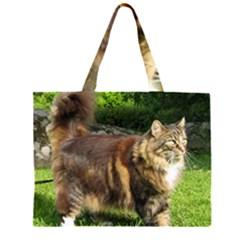 Norwegian Forest Cat Full  Large Tote Bag