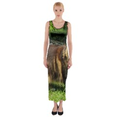 Norwegian Forest Cat Full  Fitted Maxi Dress