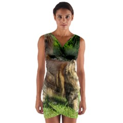 Norwegian Forest Cat Full  Wrap Front Bodycon Dress