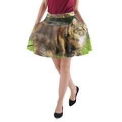 Norwegian Forest Cat Full  A-Line Pocket Skirt