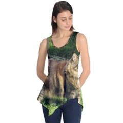 Norwegian Forest Cat Full  Sleeveless Tunic