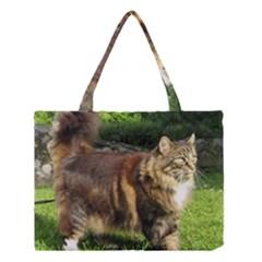 Norwegian Forest Cat Full  Medium Tote Bag