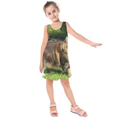 Norwegian Forest Cat Full  Kids  Sleeveless Dress