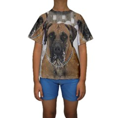 Boerboel  Kids  Short Sleeve Swimwear