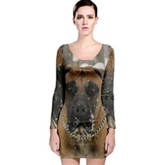 Boerboel  Long Sleeve Bodycon Dress