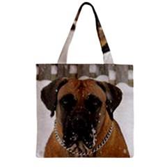 Boerboel  Zipper Grocery Tote Bag