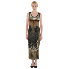 Boerboel  Fitted Maxi Dress