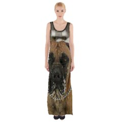 Boerboel  Maxi Thigh Split Dress