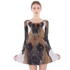 Boerboel  Long Sleeve Velvet Skater Dress