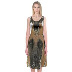 Boerboel  Midi Sleeveless Dress