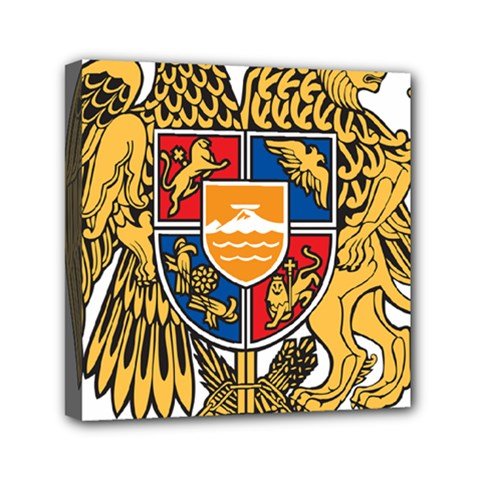 Coat of Arms of Armenia Mini Canvas 6  x 6