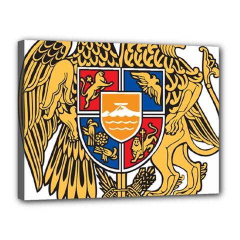 Coat of Arms of Armenia Canvas 16  x 12
