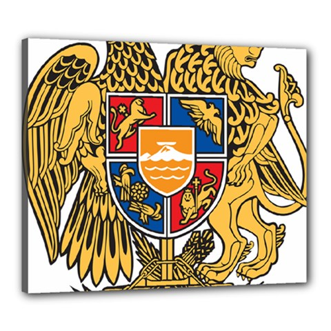 Coat of Arms of Armenia Canvas 24  x 20