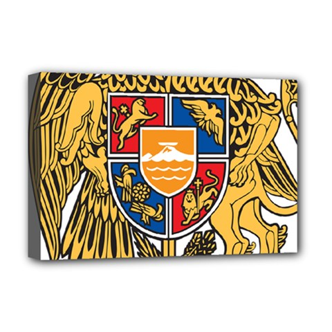 Coat of Arms of Armenia Deluxe Canvas 18  x 12