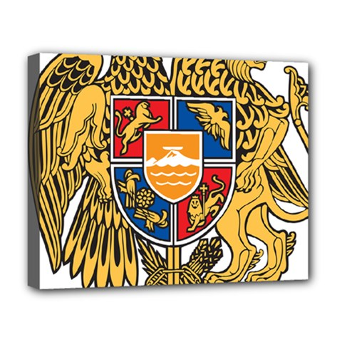 Coat of Arms of Armenia Deluxe Canvas 20  x 16
