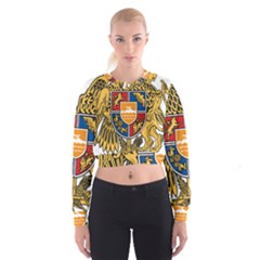 Coat of Arms of Armenia Women s Cropped Sweatshirt