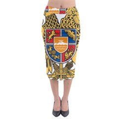 Coat of Arms of Armenia Midi Pencil Skirt
