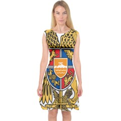 Coat Of Arms Of Armenia Capsleeve Midi Dress