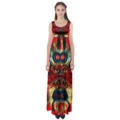 Ancient Beetle  by WBK: Empire Waist Maxi Dress