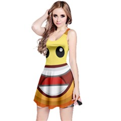 Your Happy Face Reversible Sleeveless Dress