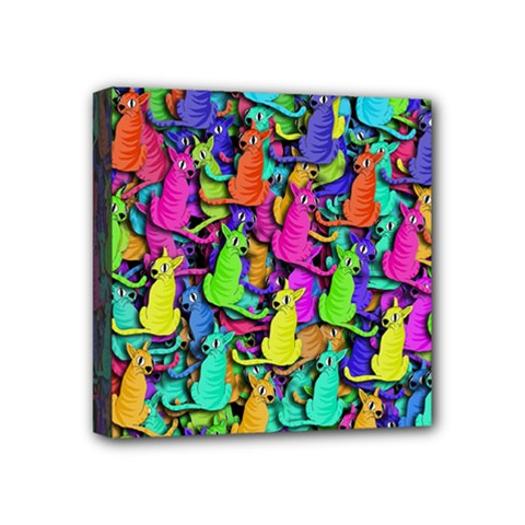 Colorful cats Mini Canvas 4  x 4