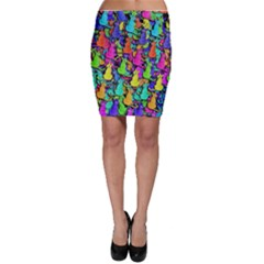 Colorful cats Bodycon Skirt