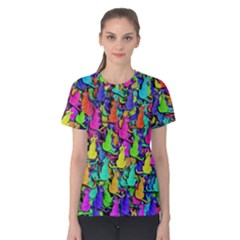 Colorful cats Women s Cotton Tee