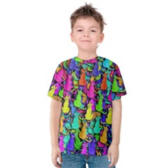 Colorful cats Kids  Cotton Tee