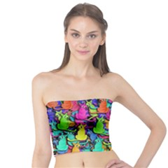 Colorful cats Tube Top